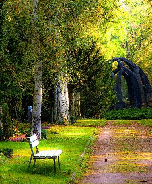 Красива алея в парка